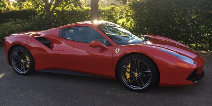 The first Ferrari 488 Spider in the UK?